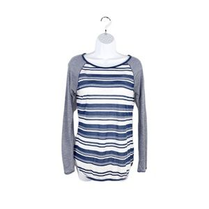 Athleta Long Sleeve Shanti Striped Top Soft Tee